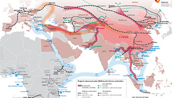 The Road and Rail Routes of the New Silk Road